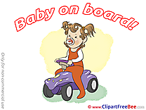 Autocar Clip Art download Baby on board