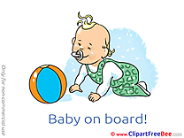 Ball Baby on board Clip Art for free