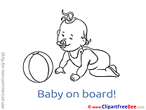 Ball Clipart Baby on board free Images