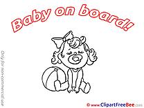 Ball Pics Baby on board Illustration