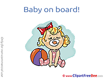 Ball printable Illustrations Baby on board