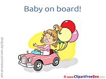Balloons printable Baby on board Images
