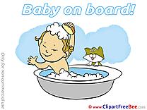 Bath Clipart Baby on board Illustrations
