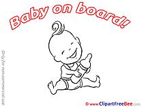 Bottle of Milk Baby on board download Illustration