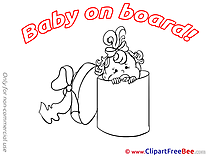 Box Clipart Baby on board free Images