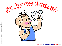Bubbles printable Baby on board Images