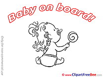 Candy Clipart Baby on board free Images