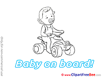 Car Baby on board free Images download