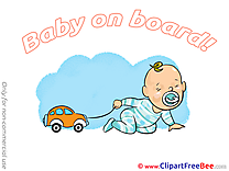 Car Clipart Baby on board free Images