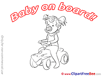 Car Girl Clip Art download Baby on board