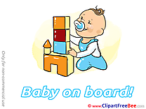 Castle Blocks download Clipart Baby on board Cliparts