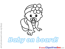 Clipart Baby on board Illustrations