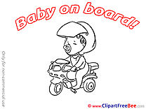 Clipart Scooter Baby on board free Images