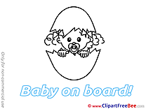 Coloring Egg download Clipart Baby on board Cliparts