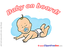 Diapers Baby on board Illustrations for free