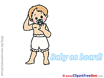 Diapers download Baby on board Illustrations