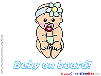 Download Clipart Baby on board Cliparts