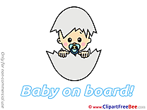 Egg Baby on board Clip Art for free