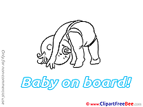 Exercise download Baby on board Illustrations