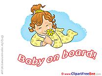 Flower Baby on board download Illustration