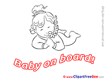 Flower Pics Baby on board free Image