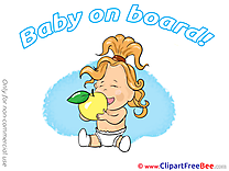Fruit Apple free Illustration Baby on board