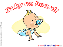 Glad printable Baby on board Images