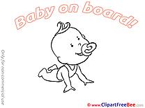 Happy Pics Baby on board Illustration