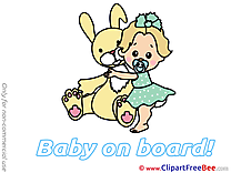 Hare Clip Art download Baby on board