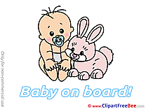 Hare download Baby on board Illustrations