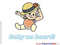 Hat Baby on board download Illustration