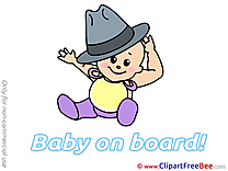 Hat Pics Baby on board free Image