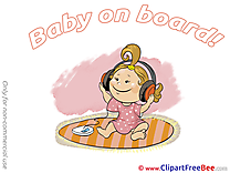 Headphones free Cliparts Baby on board