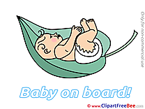 Leaf Baby on board free Images download