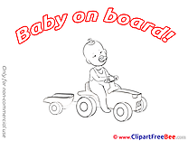Little Car Clip Art download Baby on board