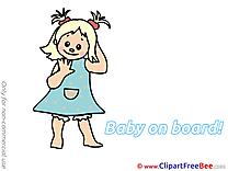Little Girl Pics Baby on board Illustration