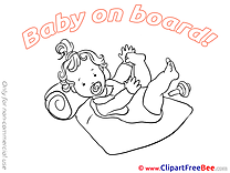 Lying Clipart Baby on board free Images