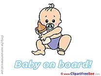 Milk Bottle Clip Art download Baby on board