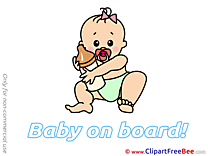 Milk Bottle Cliparts Baby on board for free
