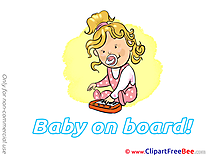 Music Piano download Clipart Baby on board Cliparts