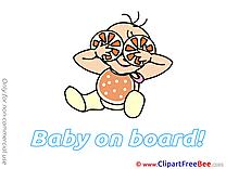 Oranges Baby on board download Illustration