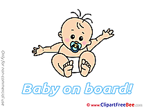 Pacifier Clipart Baby on board free Images