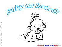 Pacifier Pics Baby on board free Image