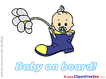 Pics Flower Baby on board free Cliparts