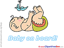 Pigeon Cliparts Baby on board for free
