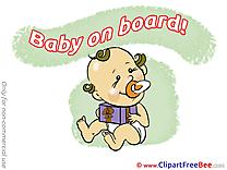 Present Pics Baby on board Illustration