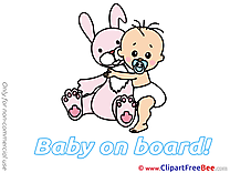Rabbit Pics Baby on board free Cliparts