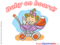 Stroller download Baby on board Illustrations
