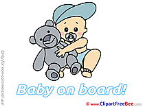 Teddy Bear Baby on board free Images download