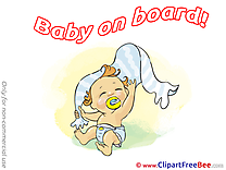 Towel Cliparts Baby on board for free